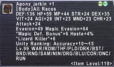 Agony Jerkin +1