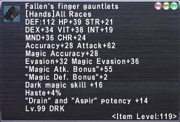 Fallen's finger gauntlets +2
