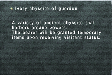Ivory Abyssite of Guerdon