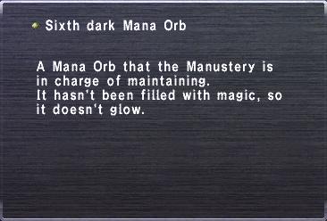 Sixth Dark Mana Orb