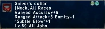 Sniper's Collar