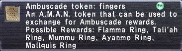 Ambuscade Token Fingers