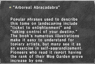 Arboreal Abracadabra
