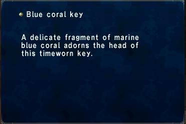 Blue coral key