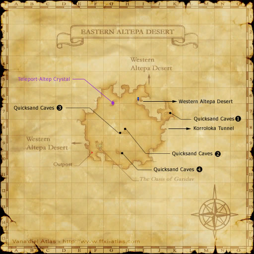 Eastern Altepa Desert Map