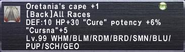 Oretenias Cape +1