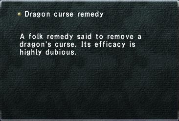 Dragon Curse Remedy
