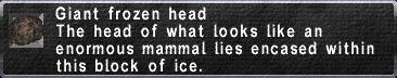 Giant frozen head