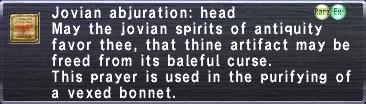 Jovian Abjuration Head