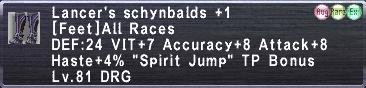 Lancer's Schynbalds +1