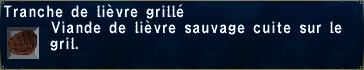 Lièvre grillé