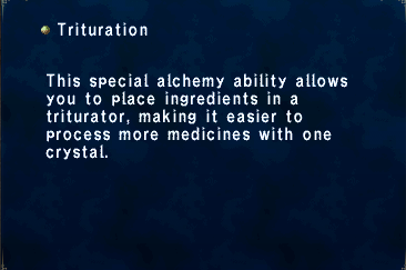 Trituration