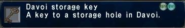 Davoi Storage Key
