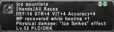Ice-gauntlets