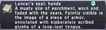 Lancer's Seal Hands