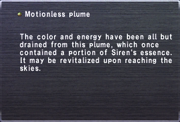Motionless plume
