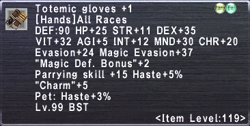 Totemic Gloves +1