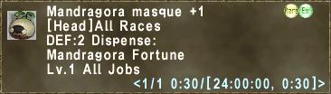 Mandragora masque +1