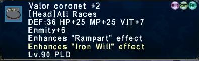 Valor Coronet +2 Augmented