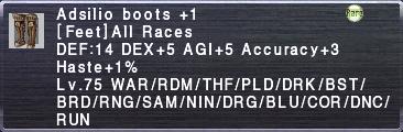 Adsilio Boots +1
