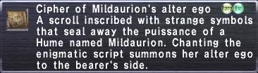 Cipher Mildaurion