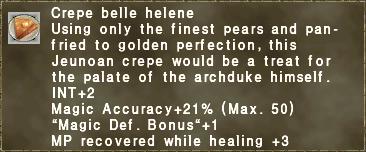Crepe belle helene