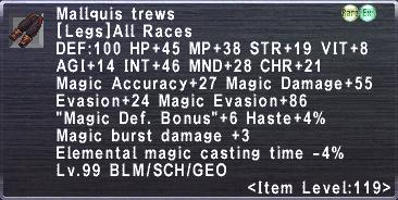 Mallquis Trews