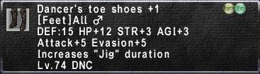 Dancer's toe shoes +1