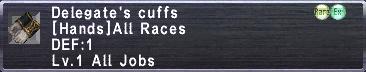 Delegate's Cuffs