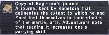Kagetora's Journal