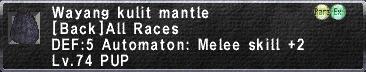 Wayang Kulit Mantle