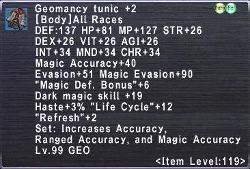 Geomancy Tunic +2