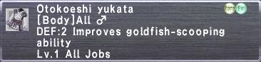 Otokoeshi yukata M
