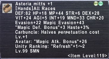 Asteria Mitts +1