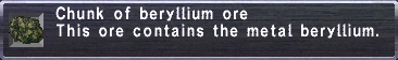 Beryllium Ore