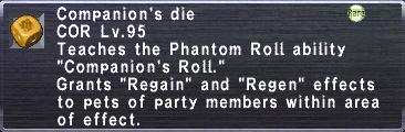 Companion's Die