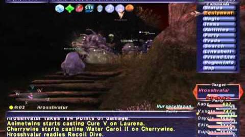 FFXI NM Saga 231 Hrosshvalur NM Full Battle