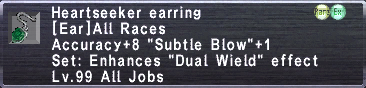 Heartseeker earring