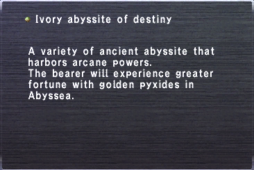 Ivory abyssite destiny