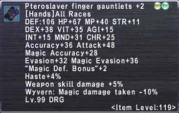Pteroslaver finger gauntlets +2