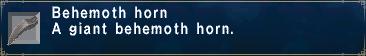 Behemoth-horn