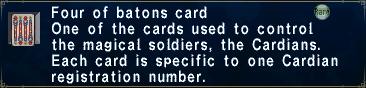 Card fourofbatons