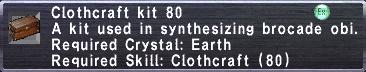 Clothcraft Kit 80