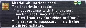 Martial Abjuration Head