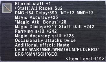 Blurred Staff +1