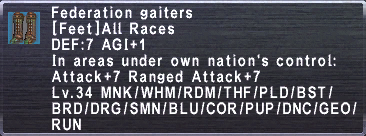 Federation Gaiters