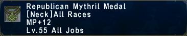 Republican Mythril Medal