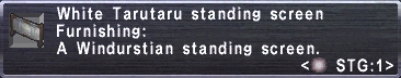 White Tarutaru Screen Stats