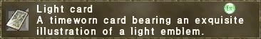 Light card (sphere)