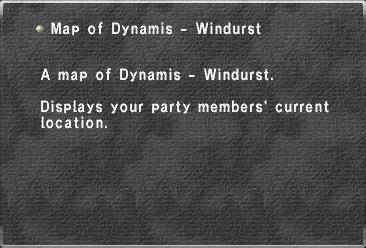 Map of Dynamis - Windurst
